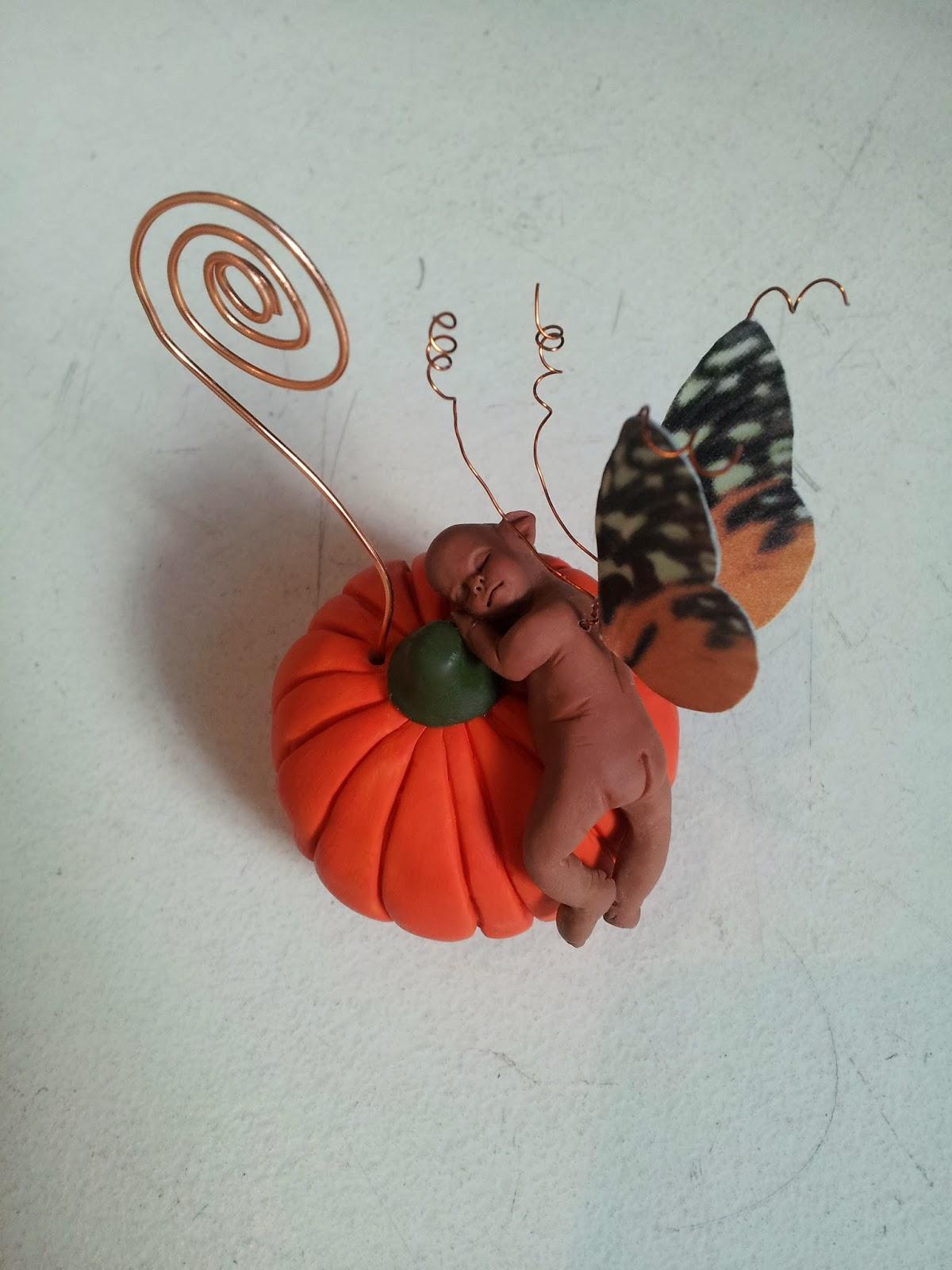 Portafoto minifatina su zucca + orecchini in coordinato  20131018_122153