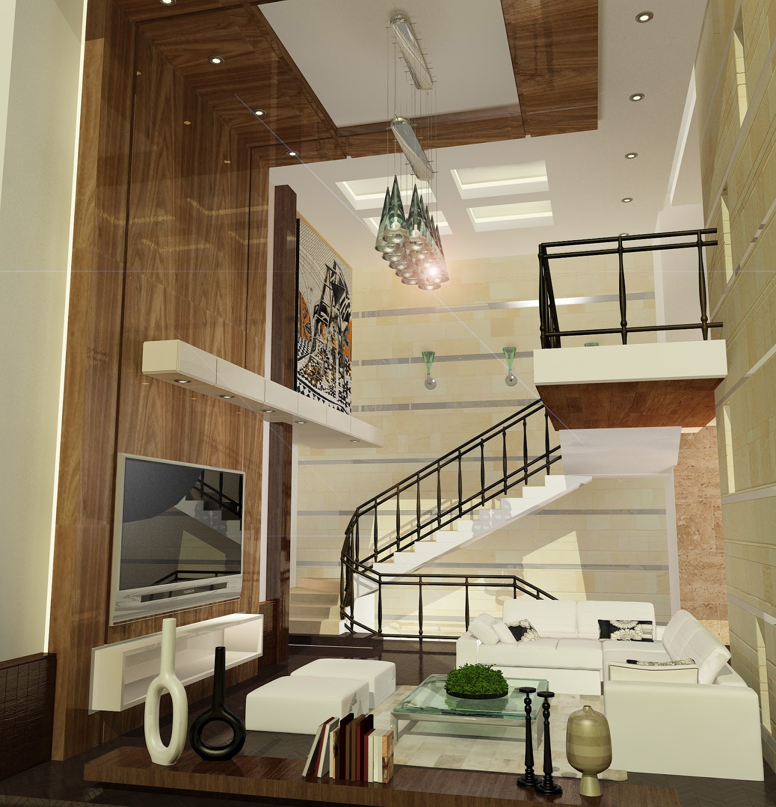 High definition modern open space living room by hd for Space definition in architecture