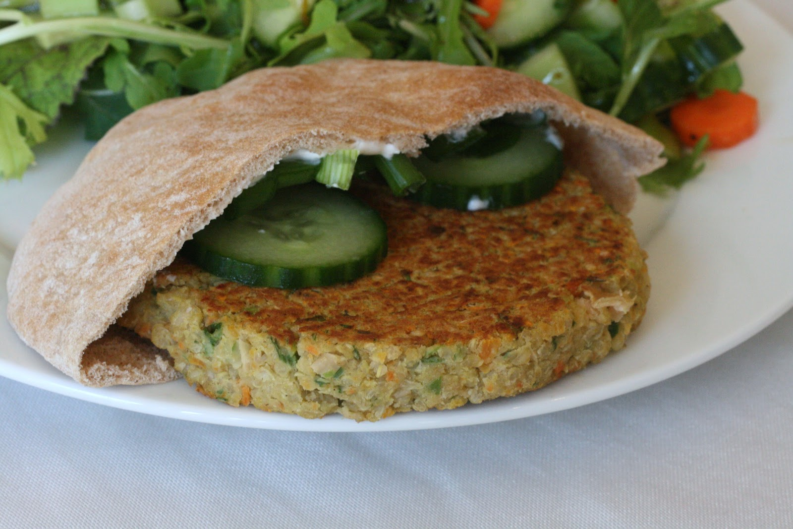 Laine's Recipe Box: Greek-Style Quinoa Burgers
