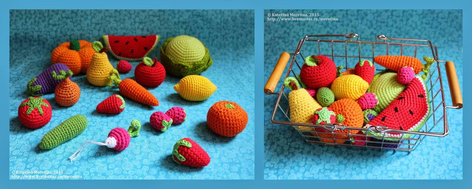 вязаные фрукты схема крючком