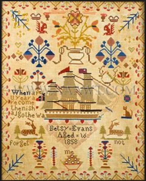 The Gingerbread Artist Inspiration From Antique Embroidery Sampler