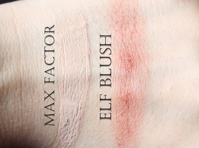 Autumn high street face makeup swatches