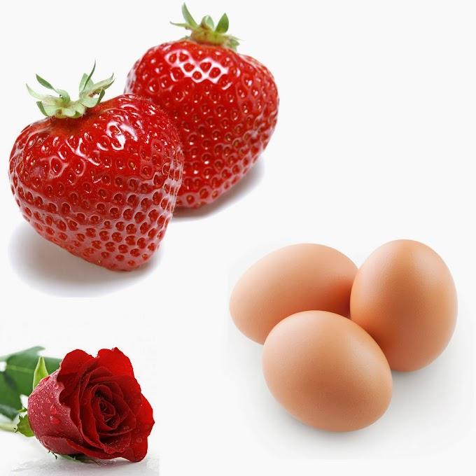 Crema antiarrugas de fresa y huevo