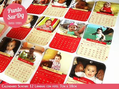 suvenir calendario fotos bautismo