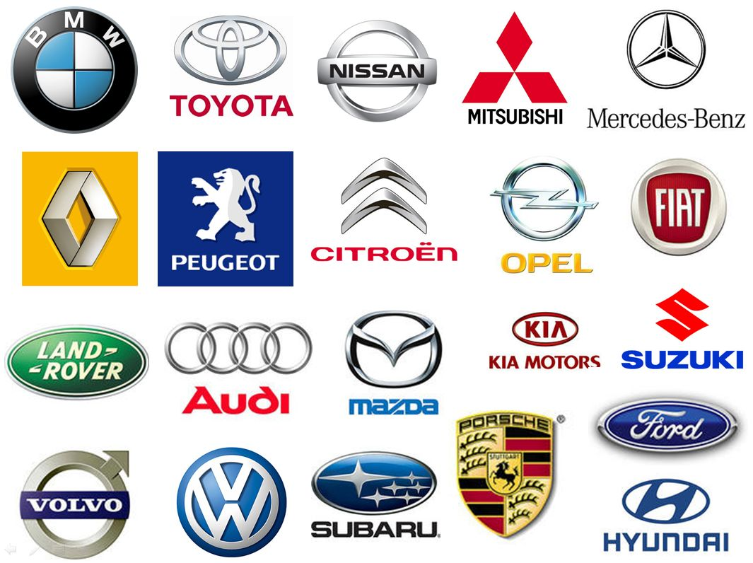 Explication des differents logos des marques automobile
