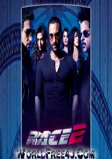 Poster Of Race 2 (2013) All Full Music Video Songs Free Download Watch Online At worldfree4u.com