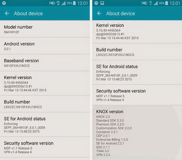 Samsung Galaxy Note 4 mendapatkan update firmware baru
