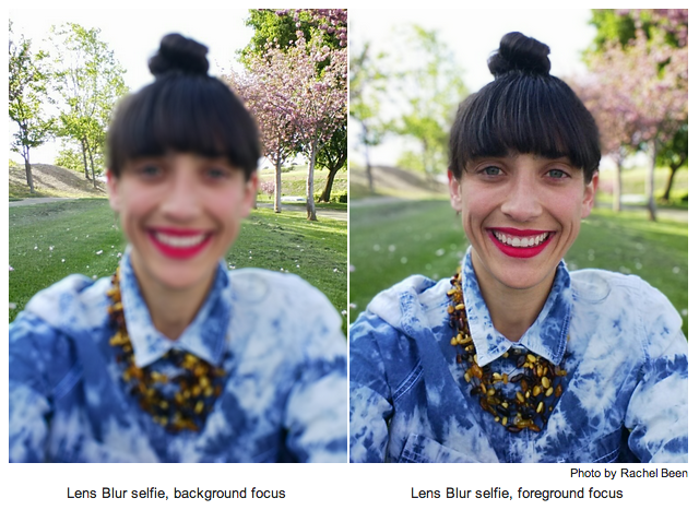 Google's camera app with Lens Blur