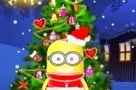 Juego de Baby minion decorar el árbol de navidad
