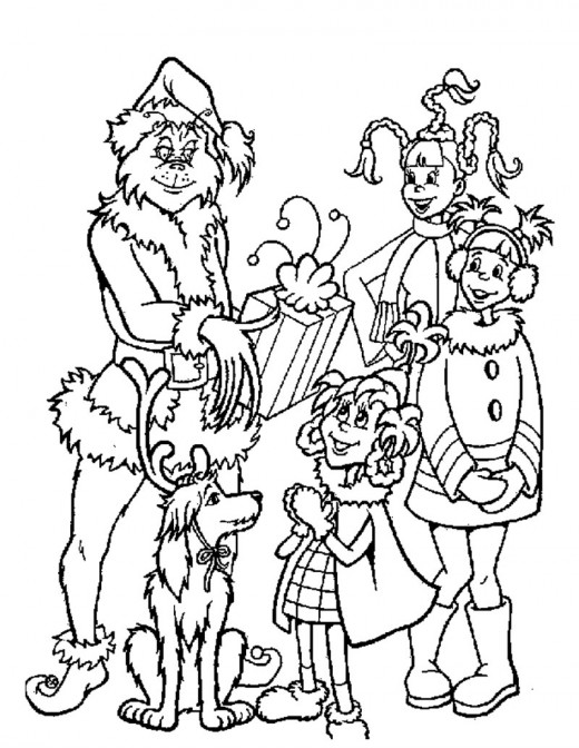 Fun Coloring Pages: The Grinch who stole christmas coloring pages