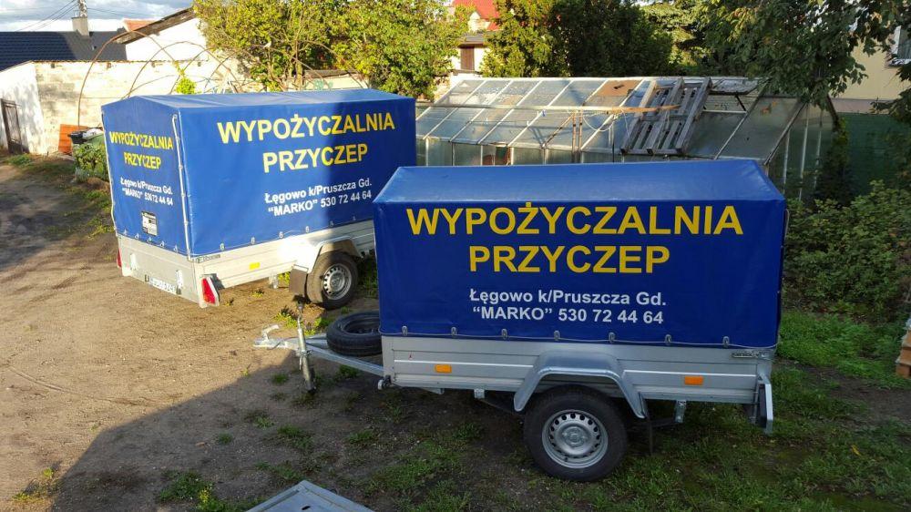 Wypożyczalnia Przyczep oraz lawet Gdańsk