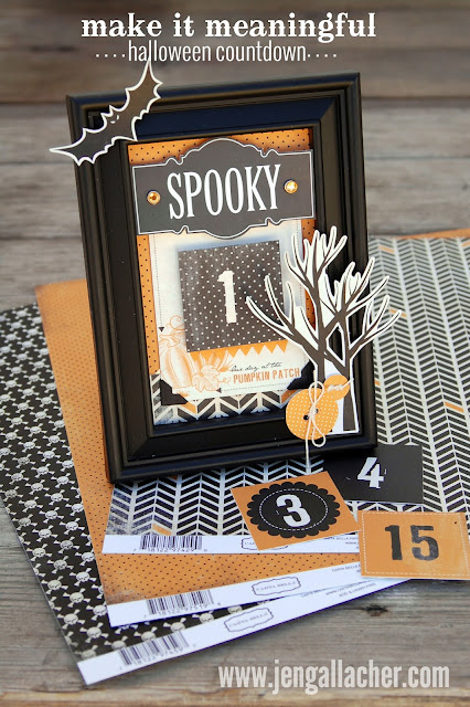 Halloween Countdown calendar by Jen Gallacher http://jengallacher.blogspot.com/2014/07/make-it-meaningful-halloween-countdown.html. #halloweencountdown