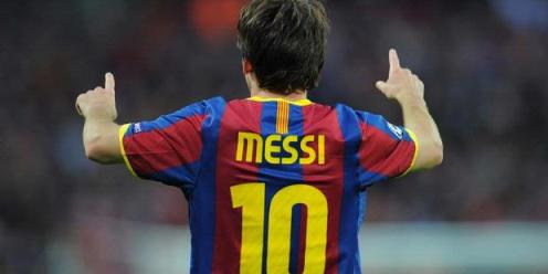 Messi Celebrates The Winning Goal