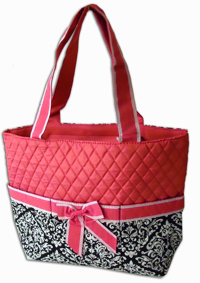 Quot go for it embroidery quilted diaper bags