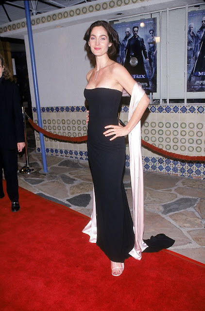 Actress, @ Carrie-Anne Moss - 'Matrix' Premiere in Los Angeles