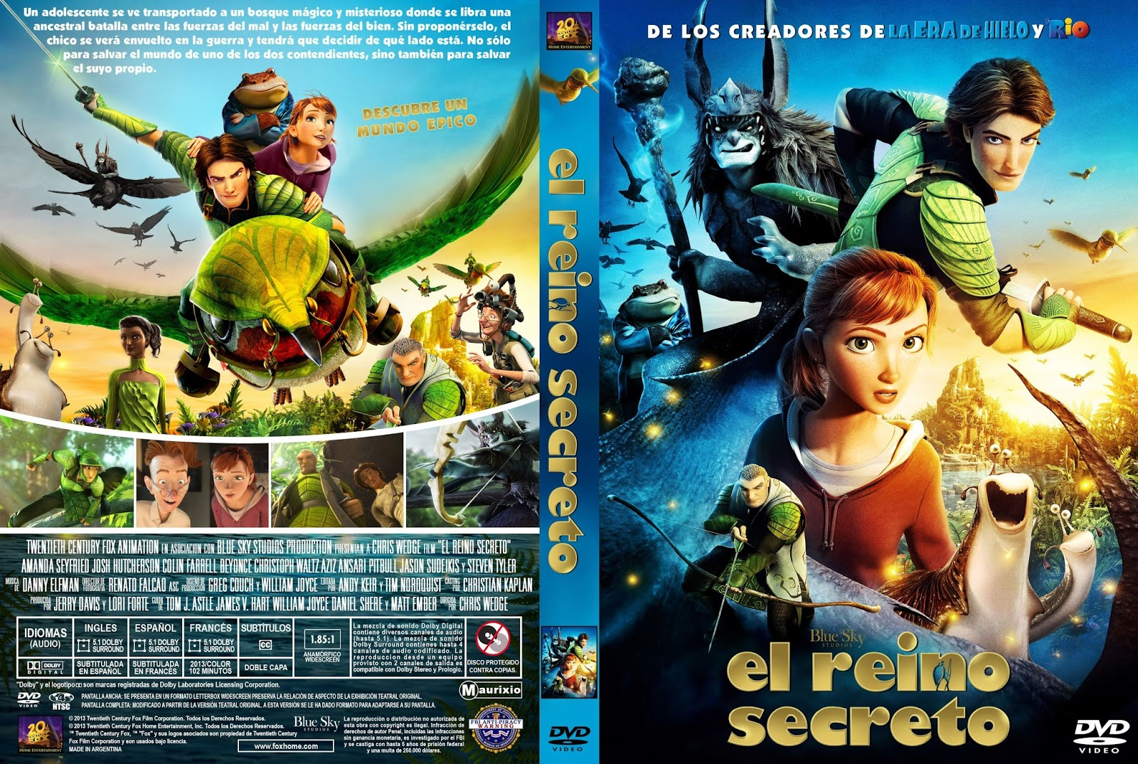 Epic el reino secreto dvdfull latino infantil for Audio libro el jardin secreto