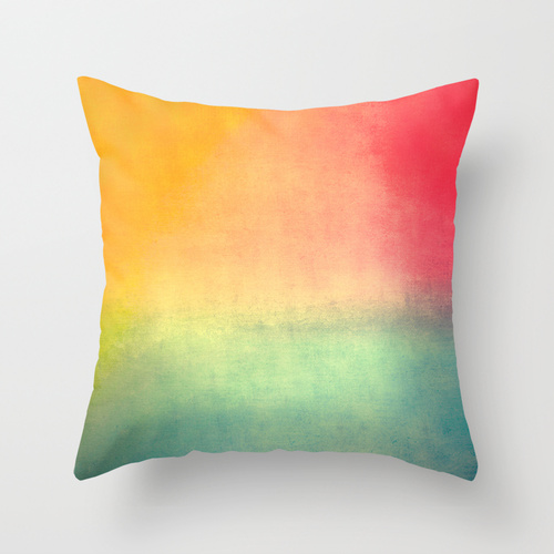 catherine masi ombre watercolor throw pillow