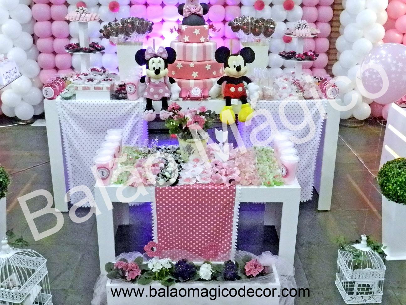 Agora n s somos festeirah decor minnie rosa proven al for Agora decoration