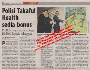 Kad Perubatan TAKAFUL HEALTH2 : Setiap Tahun Anda Sihat , Setiap Tahun Anda Dapat Bonus ( NCB )