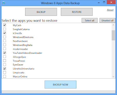 Windows 8 Apps Data Backup