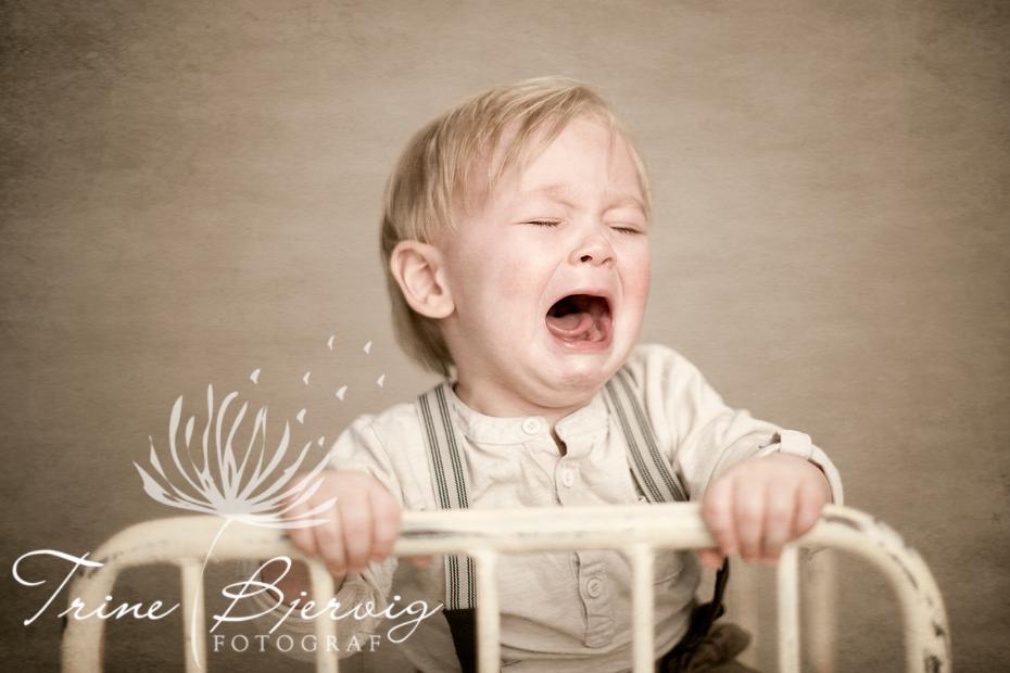 En liten gråtende gutt, Fotograf Trine Bjervig, Tønsberg