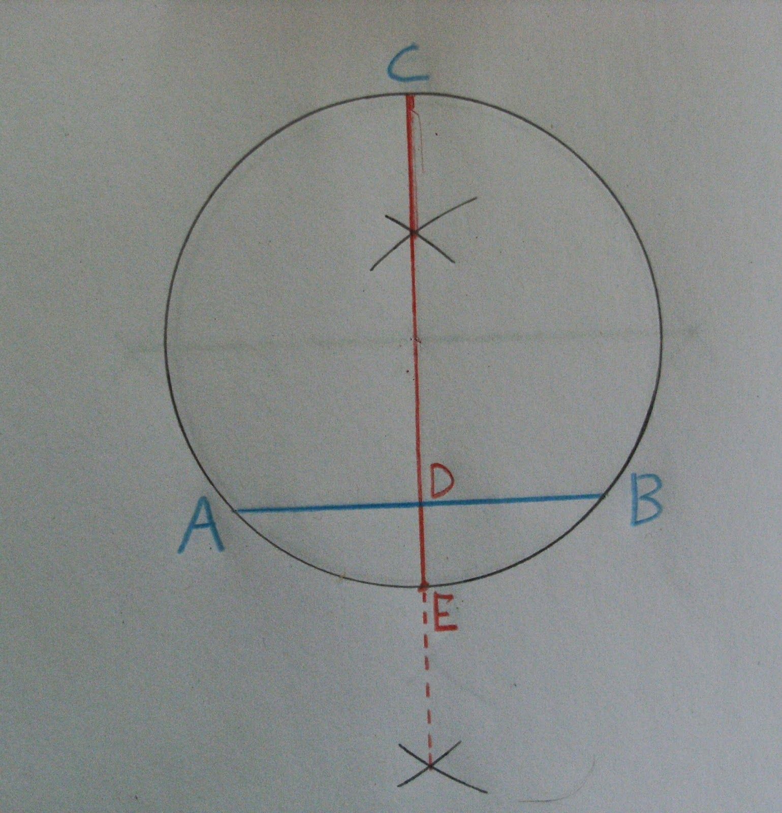 how to draw a circle in a matrix in c