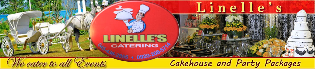 Pampanga Wedding Caterer and Wedding Cake Supplier: Linelle's Cake House and Party Packages