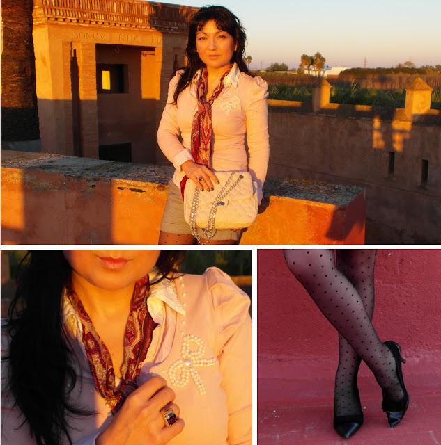look_rosa_nude_medias_topos