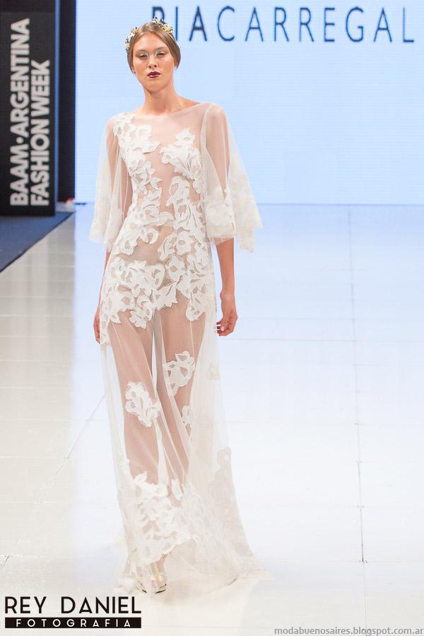 Moda otoño invierno 2015 vestidos, Pia Carregal Argentina Fashion Week otoño invierno 2015.