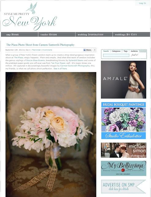 The Plaza Hotel Wedding Flowers - Style Me Pretty New York