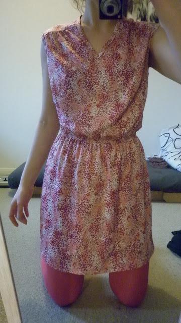 polyester pembe mini elbise ikinci el mesfringues