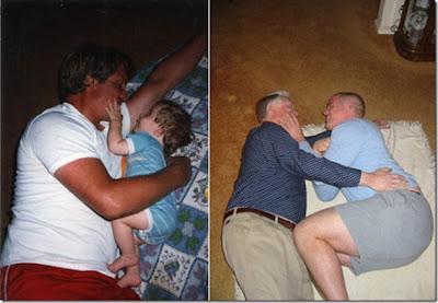 Pai e filho antes e depois