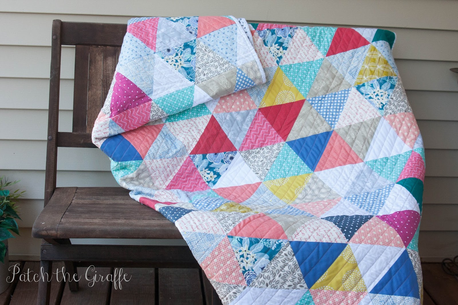 Patch The Giraffe Sew Your Stash Triangle Quilt Tutorial