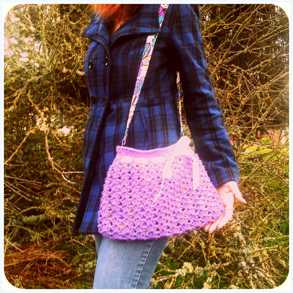 Nordstrom Crochet Hobo Bag Pattern : Civic Stitchings: Cute little crochet spring purse!