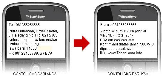 Contoh Cara Order Hajar Jahanam via SMS