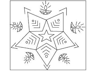 Rangoli Design For Kids