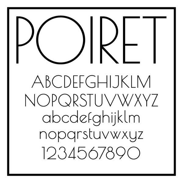 free poiret font