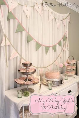 Baby Girl's 1st Birthday