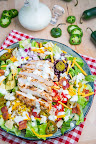 Southwestern Grilled Chicken Jalapeno Popper Salad