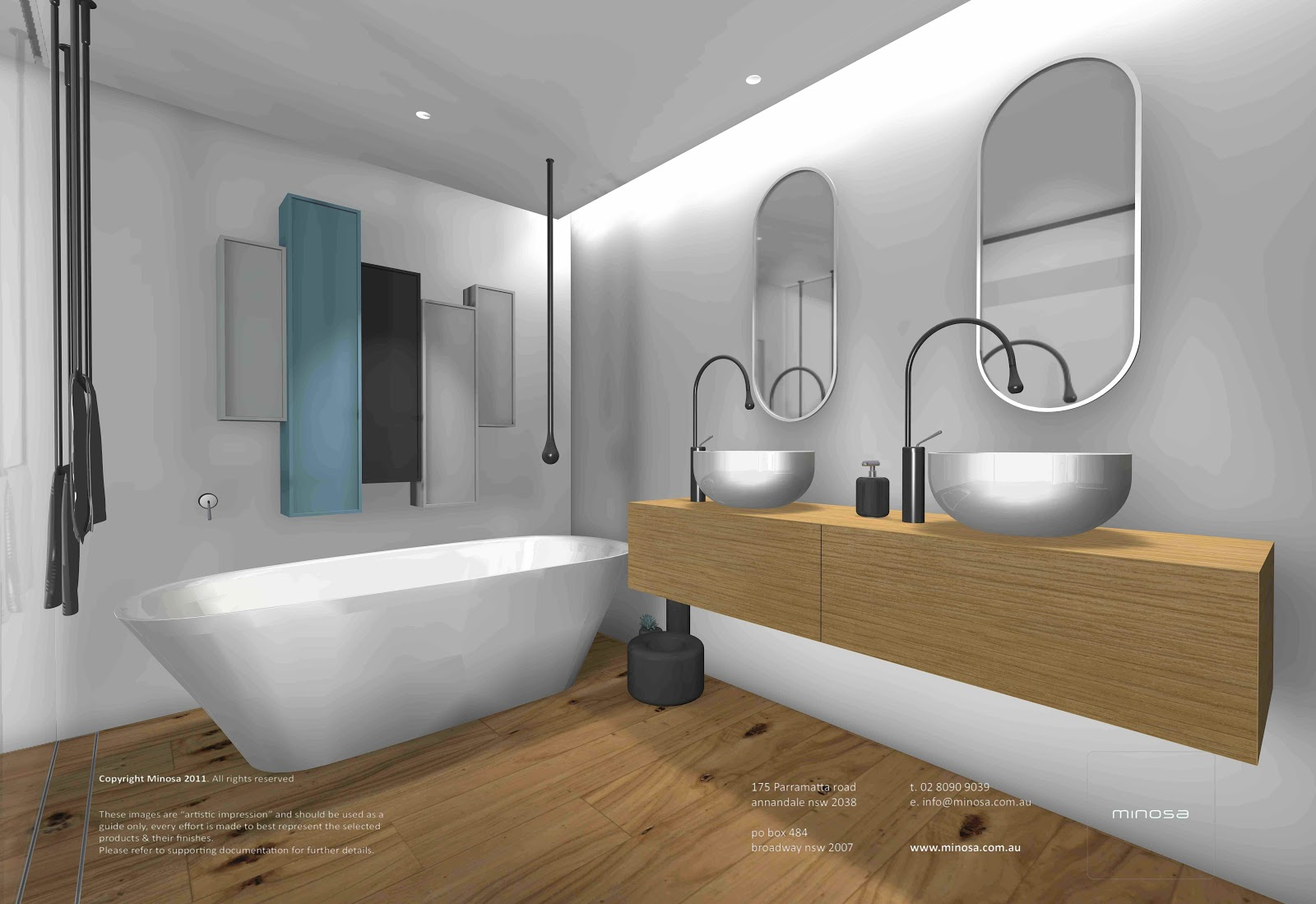 Minosa sydney city apartment modern bathroom design for Bathroom remodelling sydney