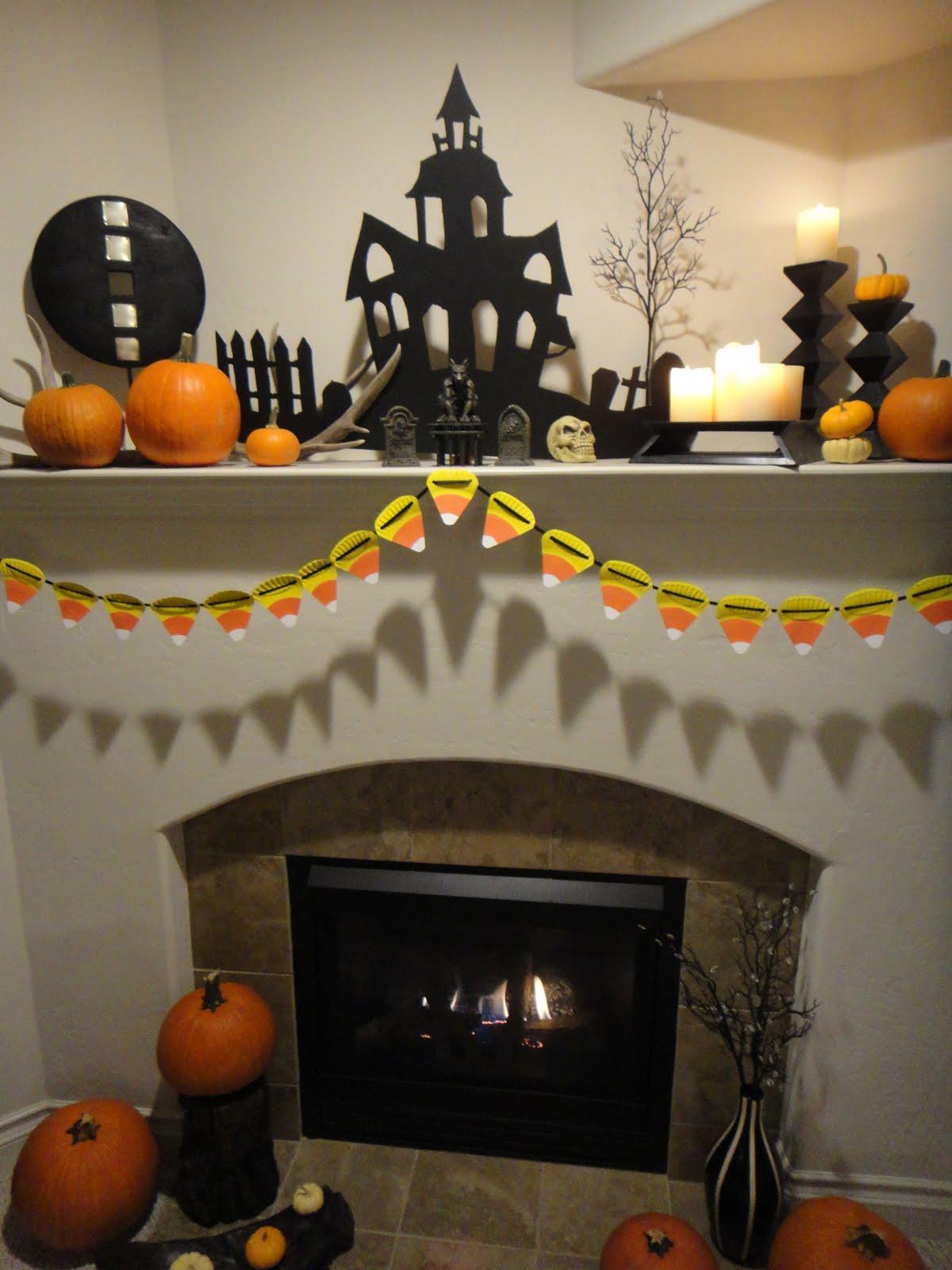 Worth Pinning Halloween Mantel