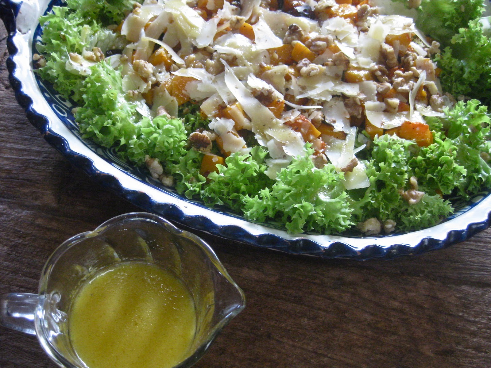 ... Butternut Squash Salad with Parmesan and Warm Cider Vinaigrette