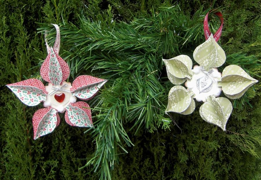 bueno pues en mi caso he hecho dos adornos con la tcnica del utilizando diversos materiales las flores son de papel de scrap con estampado