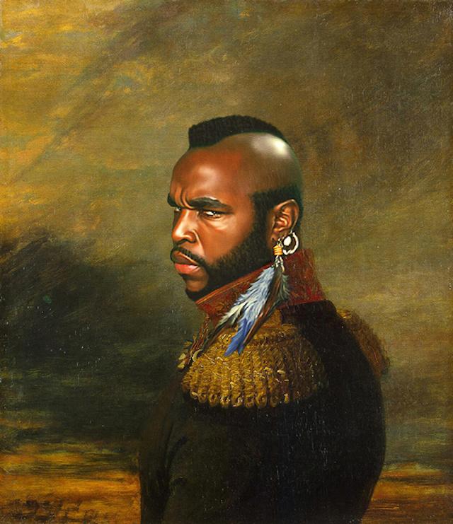 Celebridades como pinturas neoclásicas