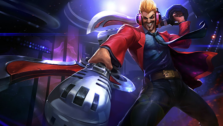 draven primetime skin splash art league of legends
