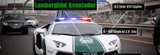 Les voitures de la police de Dubaï