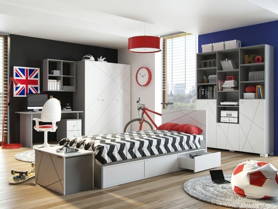 Dormitorios juveniles decorados para chicos modernos - Decoracion para una habitacion juvenil ...