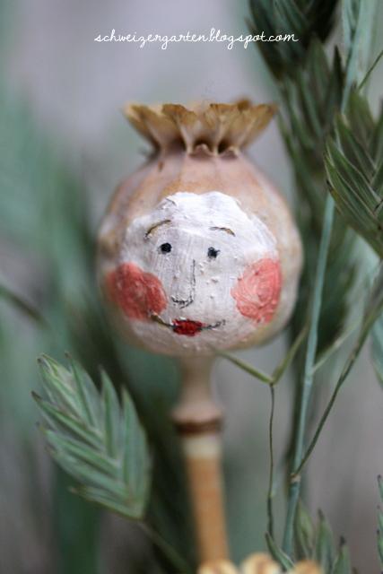 basteln mit kindern gemusegarten bild, ein schweizer garten: diy - poppy-woman / mohnblumenfrauen, Design ideen