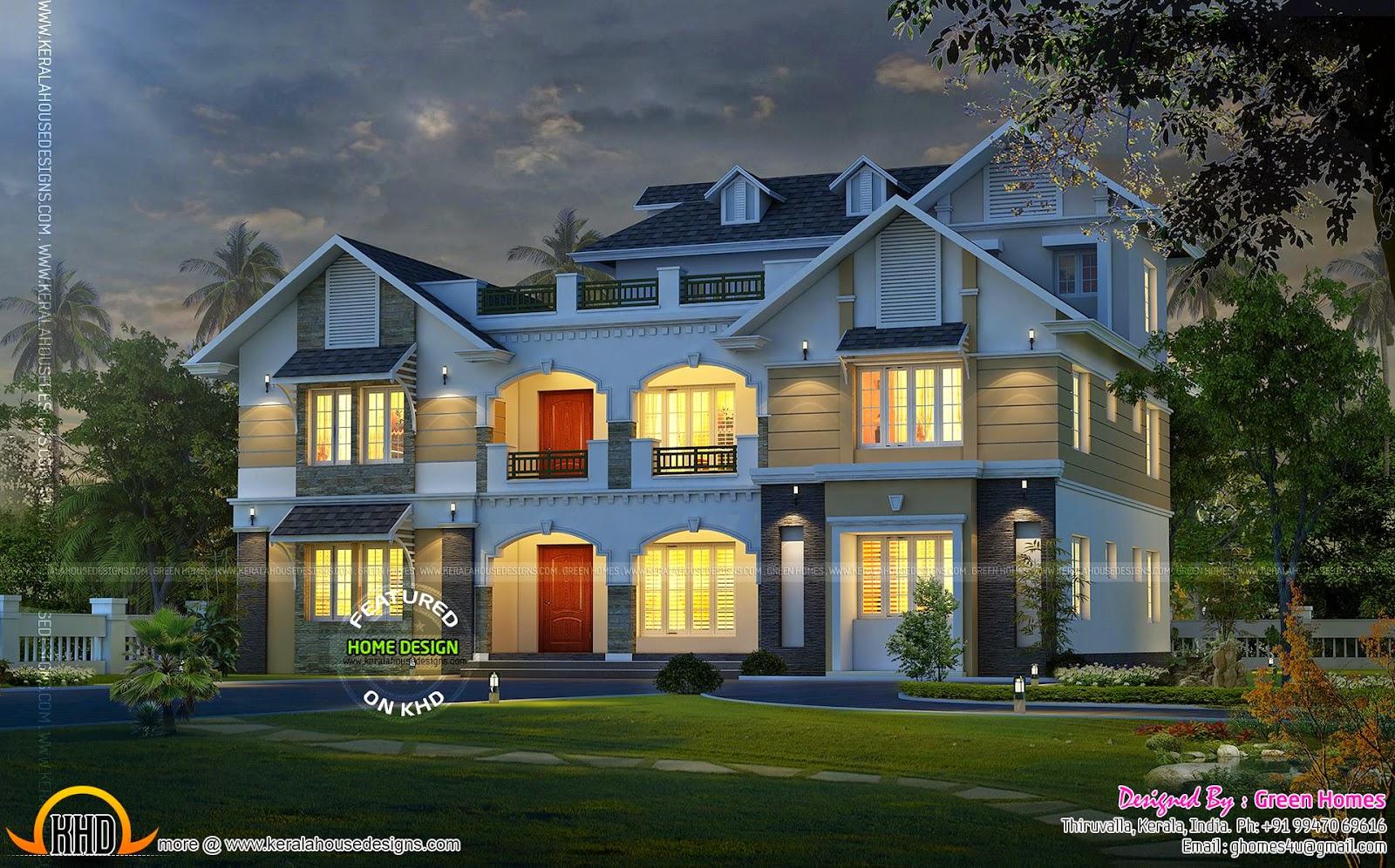 Kerala model house exterior keralahousedesigns for Kerala house exterior