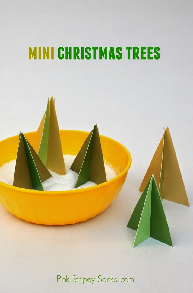 make mini christmas trees- easy DIY